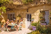 France, Indre et Loire, Loire Valley listed as World Heritage by UNESCO, Azay le Rideau, Troglododo bed and breakfast