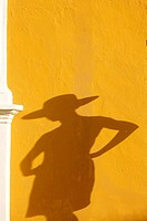 Mexico, Campeche State, Campeche City, young woman wearing a hat