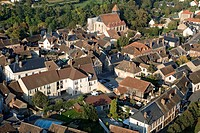 France, Yonne, Courtenay aerial view