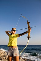 Greece, Peloponnese, Ermioni, archery