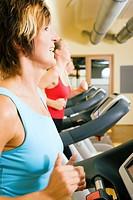 Laufen im Fitnesstudio