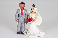 Plasticine figurines, Bride and groom, Wedding
