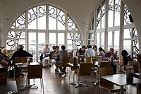 Cafe - Restaurant, Musee Instrument Musique - Musical Instrument Museum, Old England Building, Brussels, Belgium, Europe