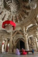 India, Rajasthan State, Ranakpur, in Adinath Jain Temple