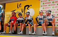 Fabian Cancellara (left) and Jens Voigt (right), Team Saxo Bank, Tour de France, 14 stage Colmar-Besancon (July 18th 2009)