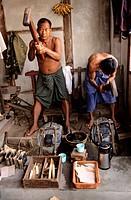 Myanmar Burma, Mandalay Division, Mandalay City, gold workers
