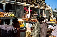 Myanmar Burma, bus top