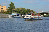 Tourist ship on Moskva river, Moscow, Russia