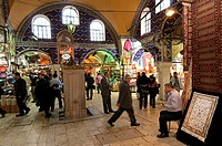 Turkey, Istanbul, historical centre listed as World Heritage by UNESCO, the Grand Bazaar or Kapalicrasi