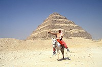 Egypt, Lower Egypt, Saqqara, listed as World Heritage by UNESCO, the step pyramid of King Djoser Zoser