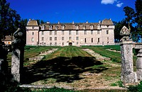 France, Lozere, Marvejols, castle of La Baume or the Versailles of Gevaudan is an old fort of the Lords of Peyre