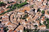 France, Alpes de Haute Provence, Digne les Bains aerial view