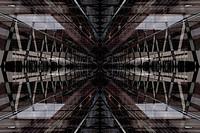 Digitally generated image of office interior