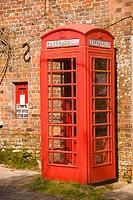 Red telephone box and postbox, Moreton, Dorset, England