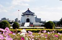 The Chiang Kai_shek Memorial Hall in the sunlight, Taipei, Taiwan, Asia