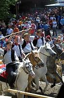 Labyrinth, Tournament, Oswald von Wolkenstein Ritt, Event 2005, Seis am Schlern, South Tyrol, Italy