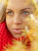 Portrait of a Scandinavian woman an autumn day Sweden.