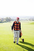 A senior man playing golf Sweden.
