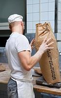 A baker in a bakery Sweden.