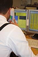 A stock broker working Sweden.