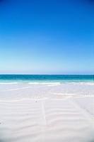Beach and ocean a sunny day Zanzibar.