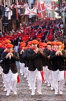 ´Alarde´ festival, Hondarribia, Guipuzcoa, Basque Country, Spain