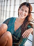 Portrait of woman, smiling