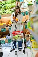 Model. Organic supermarket.