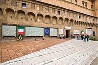 piazza del nettuno, bologna, emilia romagna, italia