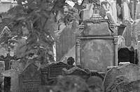 Tomb stones at a Jewish establishment in Prague