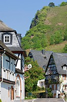 Half_timber houses in Rissbach, Traben_Trarbach, Rhineland_Palatinate, Germany