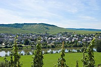 View over Moselle river to Leiwen, Rhineland_Palatinate, Germany