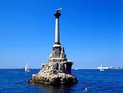 Ukraine, Crimea, Sevastopol war memorial in the sea