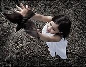 girl, bird, freedom