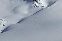 Switzerland, Valais, Verbier, snow, winter, ski, skiing, tracks, traces, curves, knows,