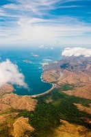 Aerial view of the coast of Guanacaste province, Costa Rica
