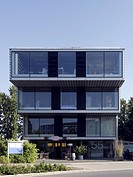 Tiered office building in the business park Stadtkrone Ost, Dortmund, North Rhine-Westphalia, Germany, Europe