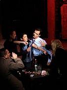 Men fighting in the pub