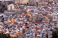 Jaen view from Saint Catalina's Castle, Andalusia, Spain, Europe