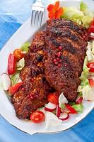 Spare Rib _ gegrillt mit Salat