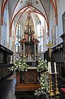 Sankt Mariae Himmelfahrt, St. Mary's Assumption, pilgrimage church, Marienbaum, Xanten, Lower Rhine, North Rhine-Westphalia, Germany, Europe