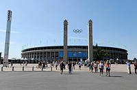 Olympic Stadium, 12th IAAF World Championships in Athletics 2009, the federal capital, Berlin, Germany, Europe