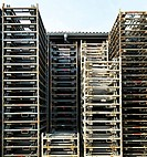 Iron frames, custom-made for a company for the loading or transportation of certain components on trucks