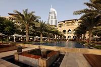 The Palace Hotel, Oldtown Dubai, Arabian-style luxury hotel, part of downtown Dubai, United Arab Emirates, Middle East