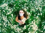 Woman on meadow