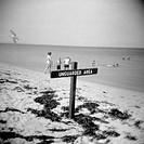 beach, sign, vacation
