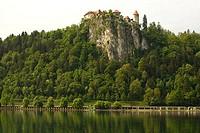 Castle on a cliff, Bled Castle, Lake Bled, Bled, Slovenia