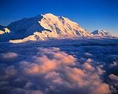 Denali Mount Mckinley above Clouds Denali National Park Preserve Alaska