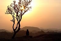 Evening mood, Humpi, Karnataka, India, South Asia
