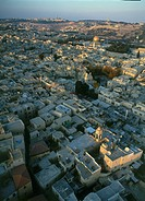 Aerial photograph of the Jewish quarter of the old city of Jerusalem